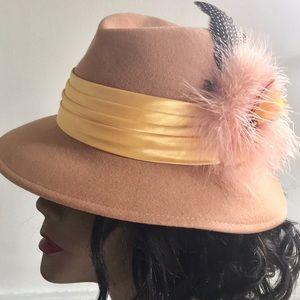 Vintage Feather Fedora Hat